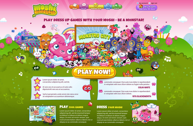 Moshi Monsters Poppet Website